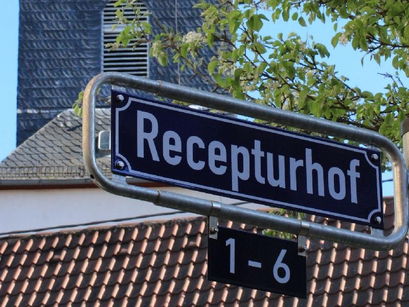 Straßenschild Recepturhof