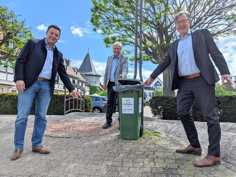 So sehen die neuen Mülltonnen in der Hofheimer Kernstadt aus.