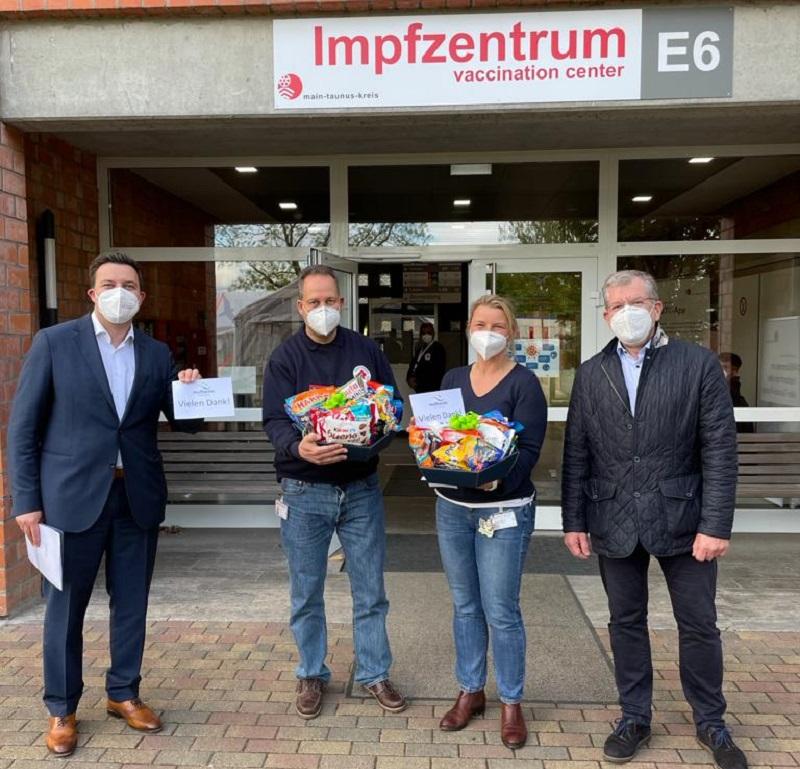 Das Impfzentrum Hattersheim