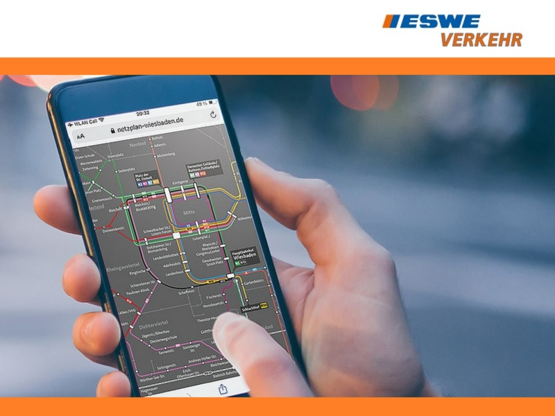 Der neue interaktive Liniennetzplan von ESWE Verkehr.