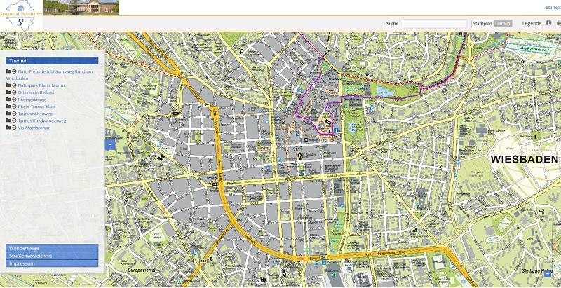 WIssen wo man wandern kann. Das zeigt das Wiesbadener Geoportal