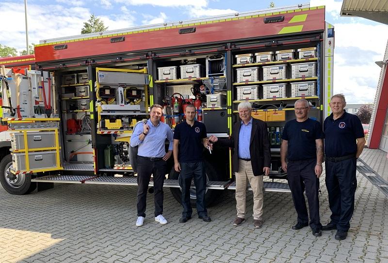 Übergabe des neuen Rüstfahrzeugs in Hofheim