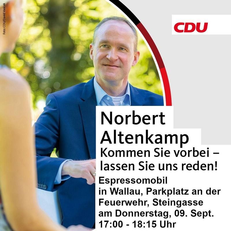 Wahlkampf der CDU in Wallau.