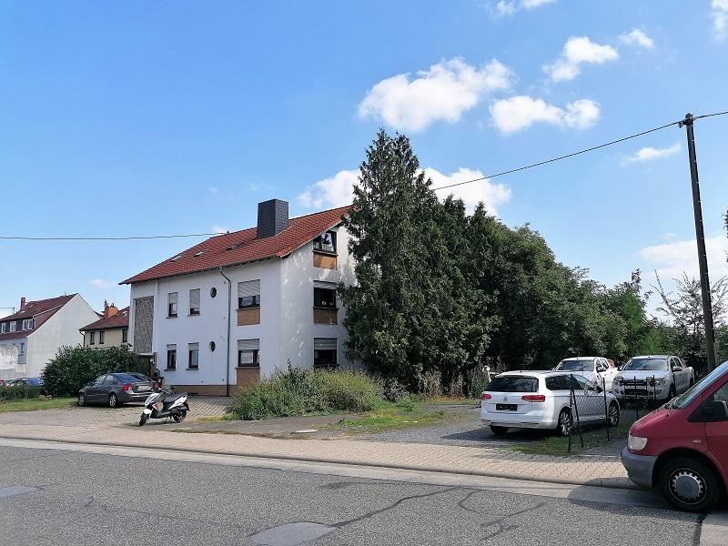 Die Zufahrt zum neuen ALDI-Markt in Wallau führt über dieses Grundstück.